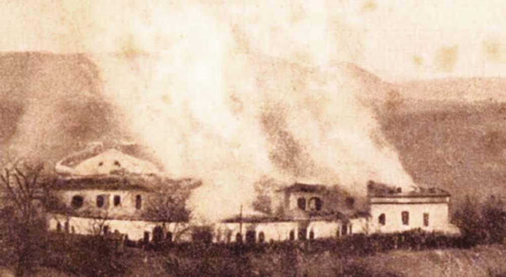 Fin de l'incendie du premier Goetheanum
